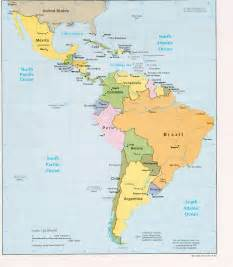 Central America Map Physical by South America Map