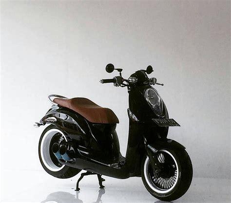modifikasi motor matic kamu bisa contek  desain