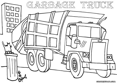 trash truck coloring pages coloring home