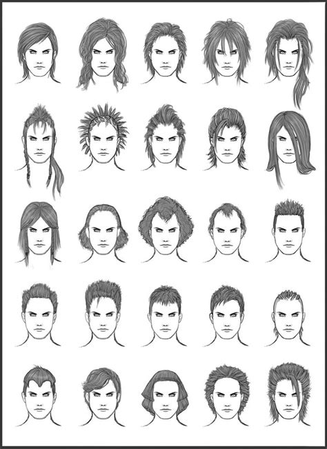 how to draw edgy hairstyles for boys men s hair set 12 by dark sheikah on deviantart