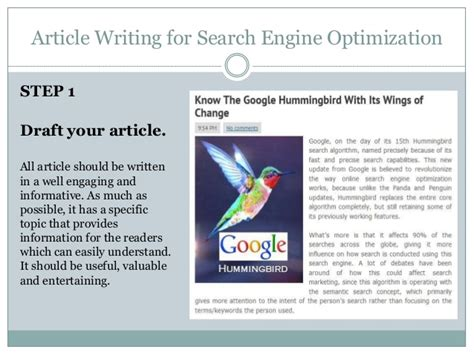 Search Engine Optimization Articles - article writing for search engine optimization