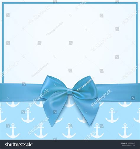 birthday card from baby template blank greeting card template baby boy stock vector