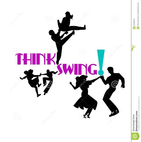 how to swing dance alone think swing dancers stock image image of jive cabaret