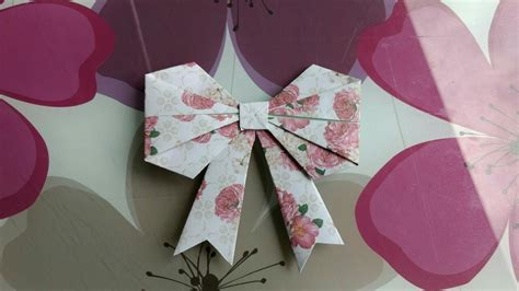 How To Fold Paper Ribbon - origami how to fold a paper bow ribbon