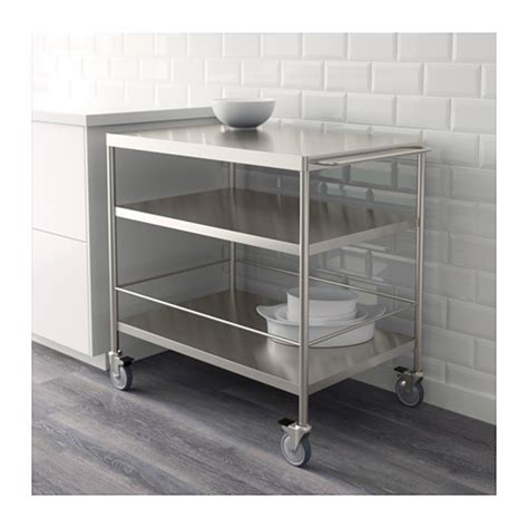 Flytta Kitchen Trolley Stainless Steel 98x57 Cm Ikea | flytta kitchen trolley stainless steel 98x57 cm ikea