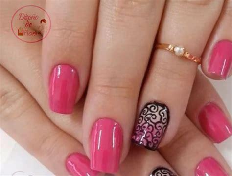 imagenes de uñas acrilicas de colores dise 241 o de u 241 as de color rosa dise 241 odeu 241 as com