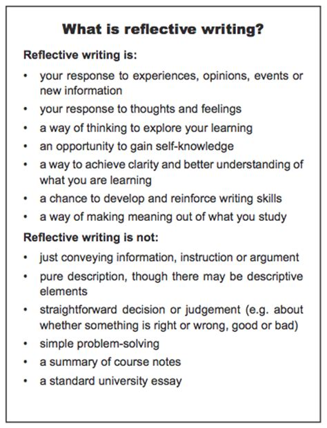 higher english reflective essay tips writing