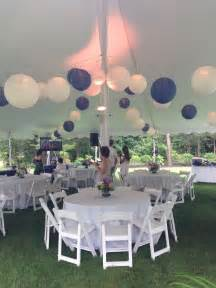 tented blue and white graduation party backyard party pinterest