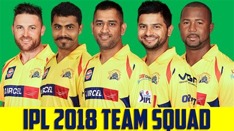 ipl all team player list ipl 2018 chennai super kings csk players list for