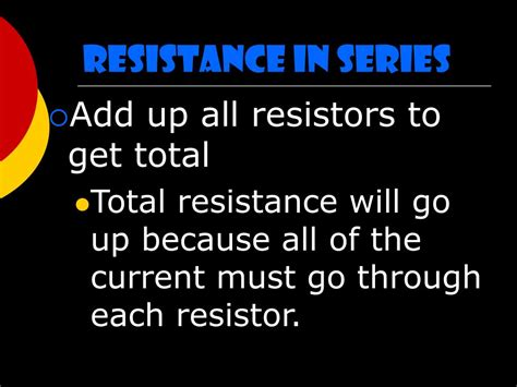 adding resistors in series changes the total resistance of a circuit by ppt series and parallel circuits powerpoint presentation id 225105