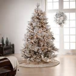 colin cowie flocked 7 1 2 white artificial christmas tree