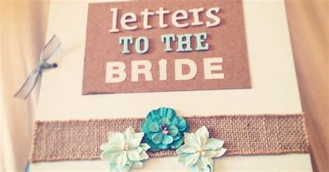 """Letters to the Bride"" book I made for my best friend's"