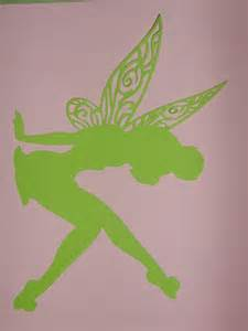 tinkerbell silhouette framed art birthday party decorations