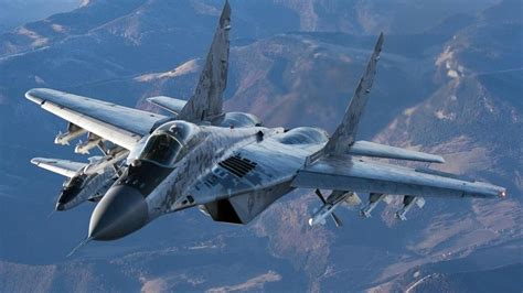 Bomber Fulcrum Space Army Navy Hos mig 29 fighter jet russian airplane plane mig 48 wallpaper 1920x1080 250565
