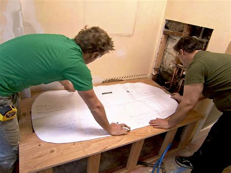 how to put in a bathtub replacing a bathtub with a deck tub hgtv