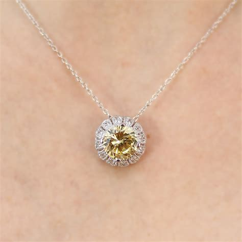 Cz Sterling Silver Pendant sterling silver yellow cz flower pendant necklace sstp00100