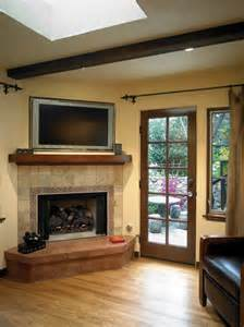 Corner Fireplaces With Tv Above by Corner Fireplace Design Home Ideas