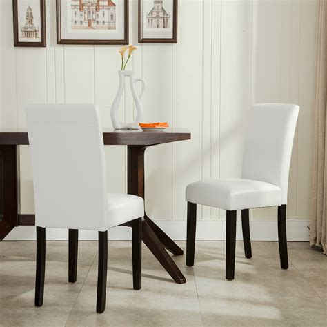 modern leather dining room chairs elegant modern parsons chair leather dining living room