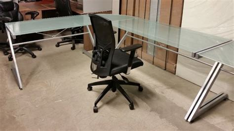 used glass workstations office furniture toronto gta