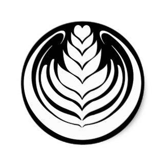 latte art leaf pattern latte art stickers zazzle