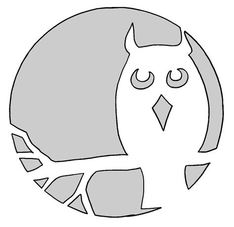 printable owl pumpkin patterns pumpkin carving templates