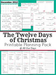 The twelve days of christmas planning pack sm png