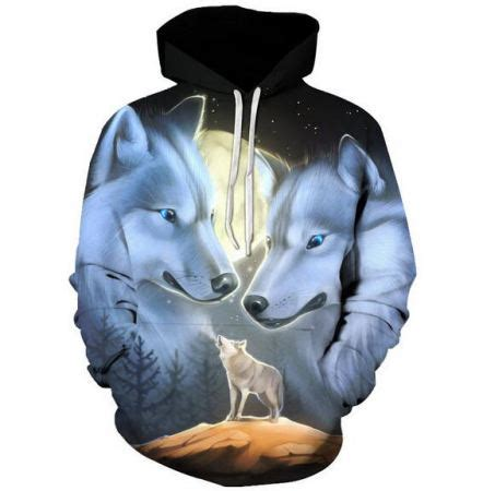 Hoddie 3d Wolf 3d moon wolf hoodie for plus size clothing hooded sweatshirts sweatshirtxy