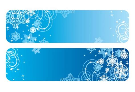 Winter Banners With Snowflakes Vector Free Download Winter Banner Templates