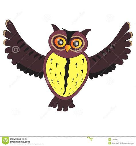 cartoon flying owl royalty  stock photography image