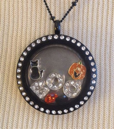 Origami Owl Black Locket Ideas - black cat pumpkin boo charm lot by