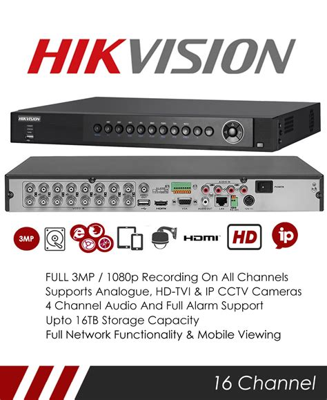 Terbaru Dvr 16 Channel Hikvision 7216 Huhi F2 Uhd 3 Mp hikvision ds 7216huhi f2 s 5mp 16 channel tvi dvr nvr tribrid cctv recorder with network and