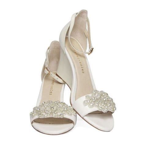 Low Wedge Bridal Shoes by Bridal Shoes Low Wedge Heel Www Imgkid The Image