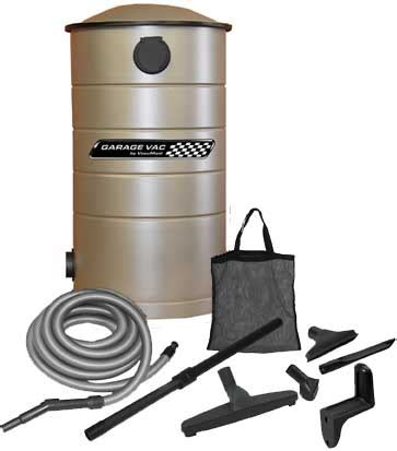 garage cleaning with a vacu central vacuum
