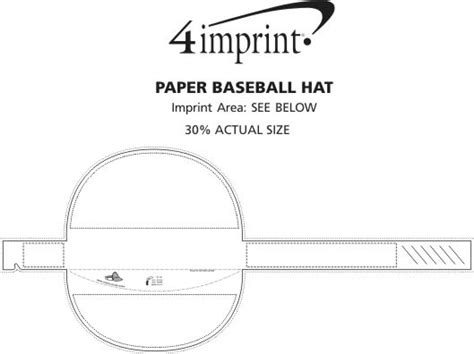 4imprint paper baseball hat headband 113609