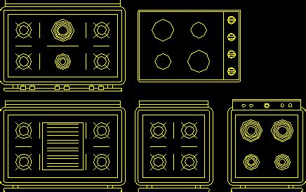 kitchen stove  dwg block  autocad designs cad