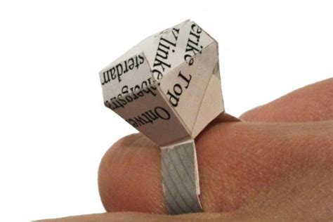 How To Make Ring With Paper - diy make your own quot quot ring out of waste paper