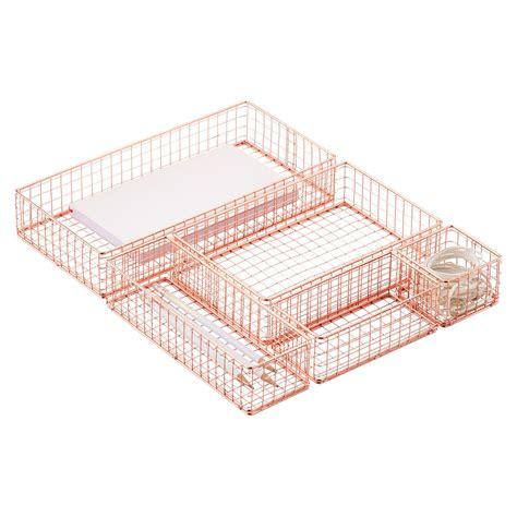 Wire Drawer Organizer copper wire drawer organizers the container store