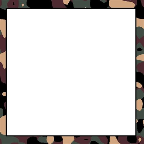 army pattern border camo clipart frame pencil and in color camo clipart frame