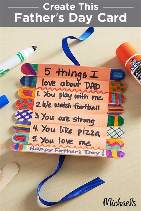 Fathers Day Crafts For Children To Make Site About Children Children Ideas For Dads