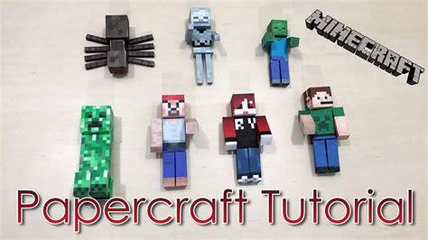 Minecraft Papercraft Tutorial - papercraft tutorial papercraft minecraft vaca como
