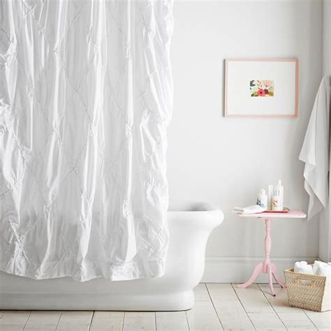 how to make pintuck curtains pintuck shower curtain pbteen