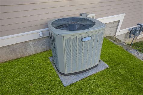 outside air conditioner unit filter parts of a central ac system
