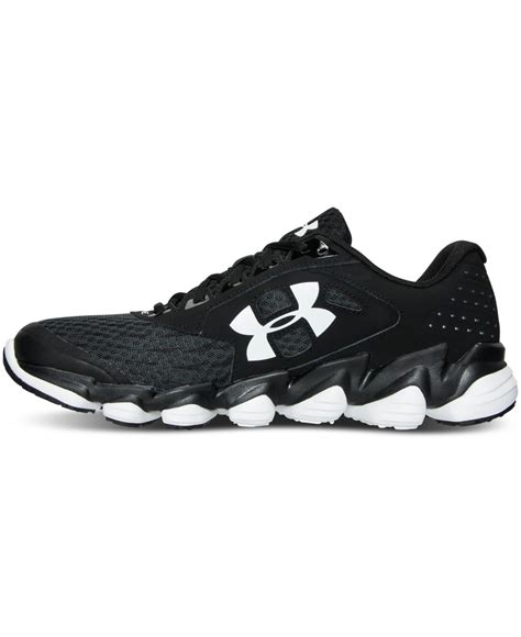 armour black sneakers armour s spine disrupt running sneakers from