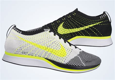 Sneakers Sepatu Nike Airforce Flyknit Racer Black White Premium nike flyknit racer where to buy