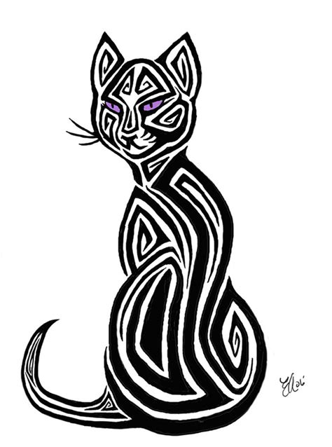 tribal cat tattoos cat tattoos designs ideas and meaning tattoos for you