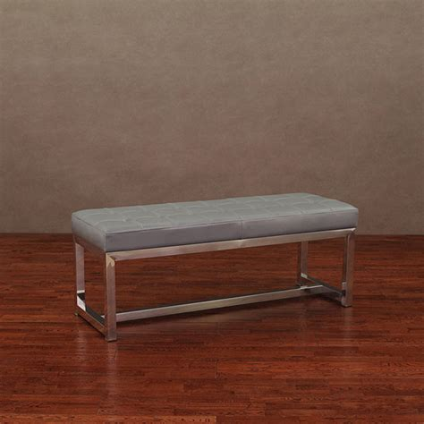 overstock leather bench liberty charcoal grey leather bench contemporary