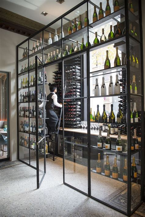 Orbit Chandelier Inviting Wine Cellars Design Ideas Featuring Sturdy Wall