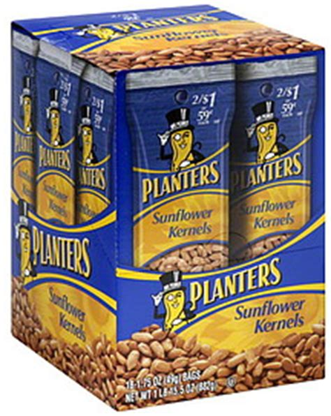 planters sunflower seeds planters sunflower kernels 18 0 ea nutrition information shopwell
