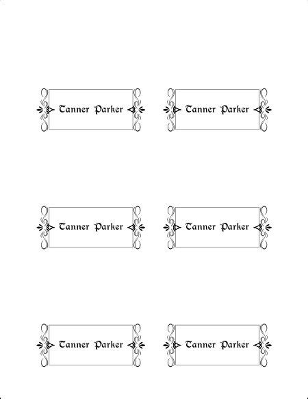 10 best images of place card template printable