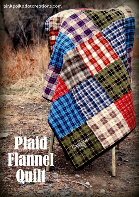 Flannel Quilt Pattern by Plaid Flannel Quilt Pink Polka Dot Creations
